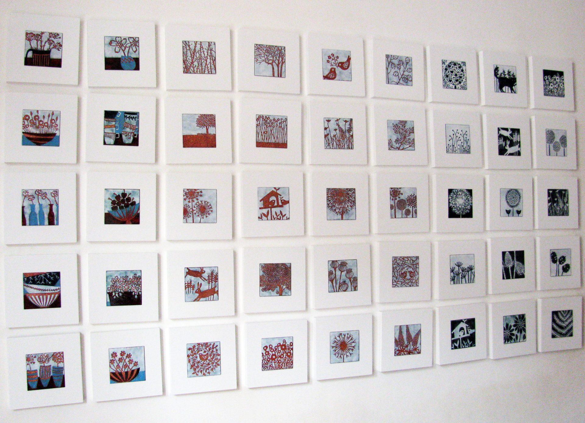 Vitreous enamel panels by Janine Partington
