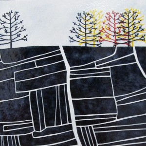 Large enamel panel by Janine Partington