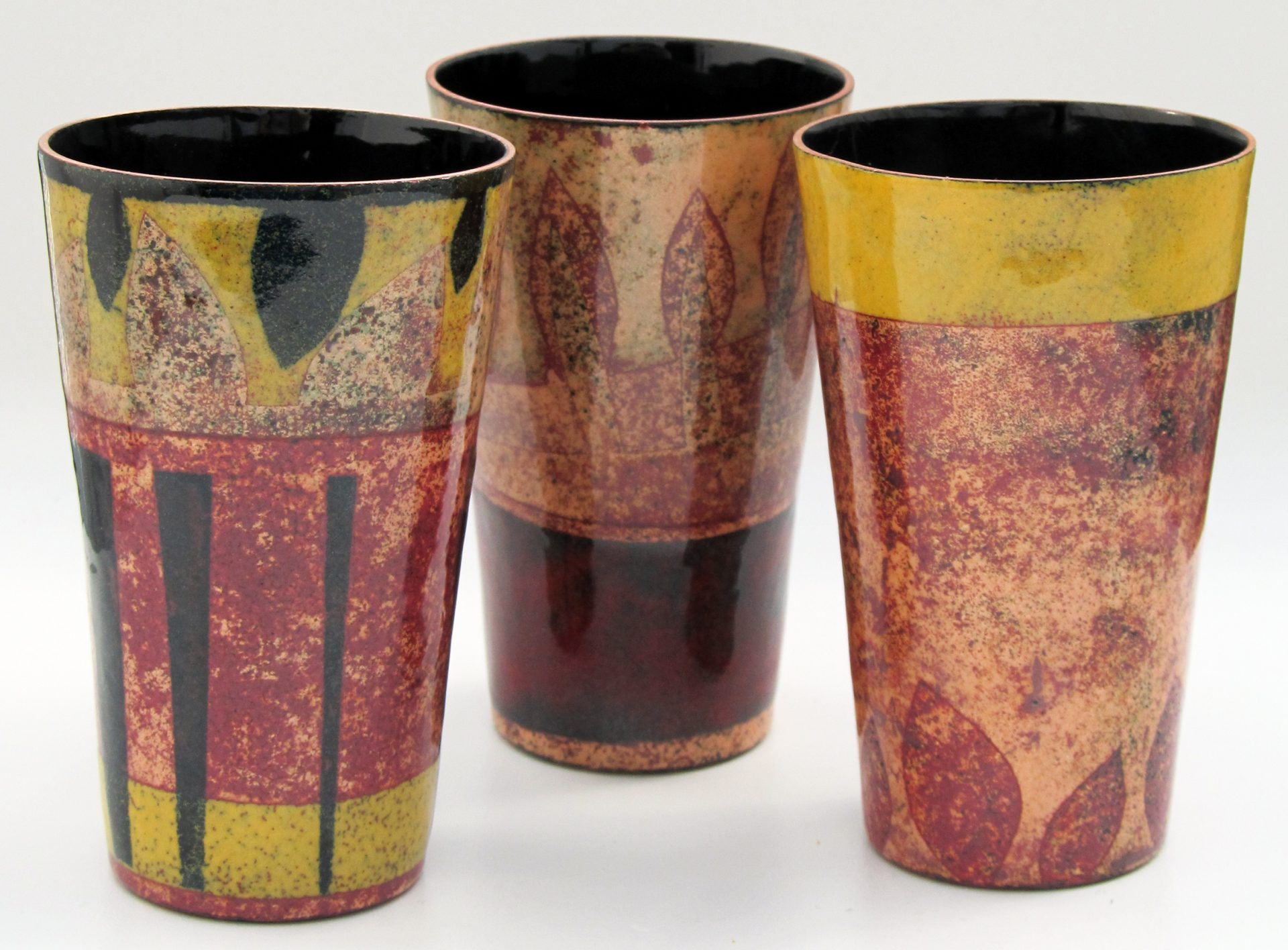 Enamelled vessels