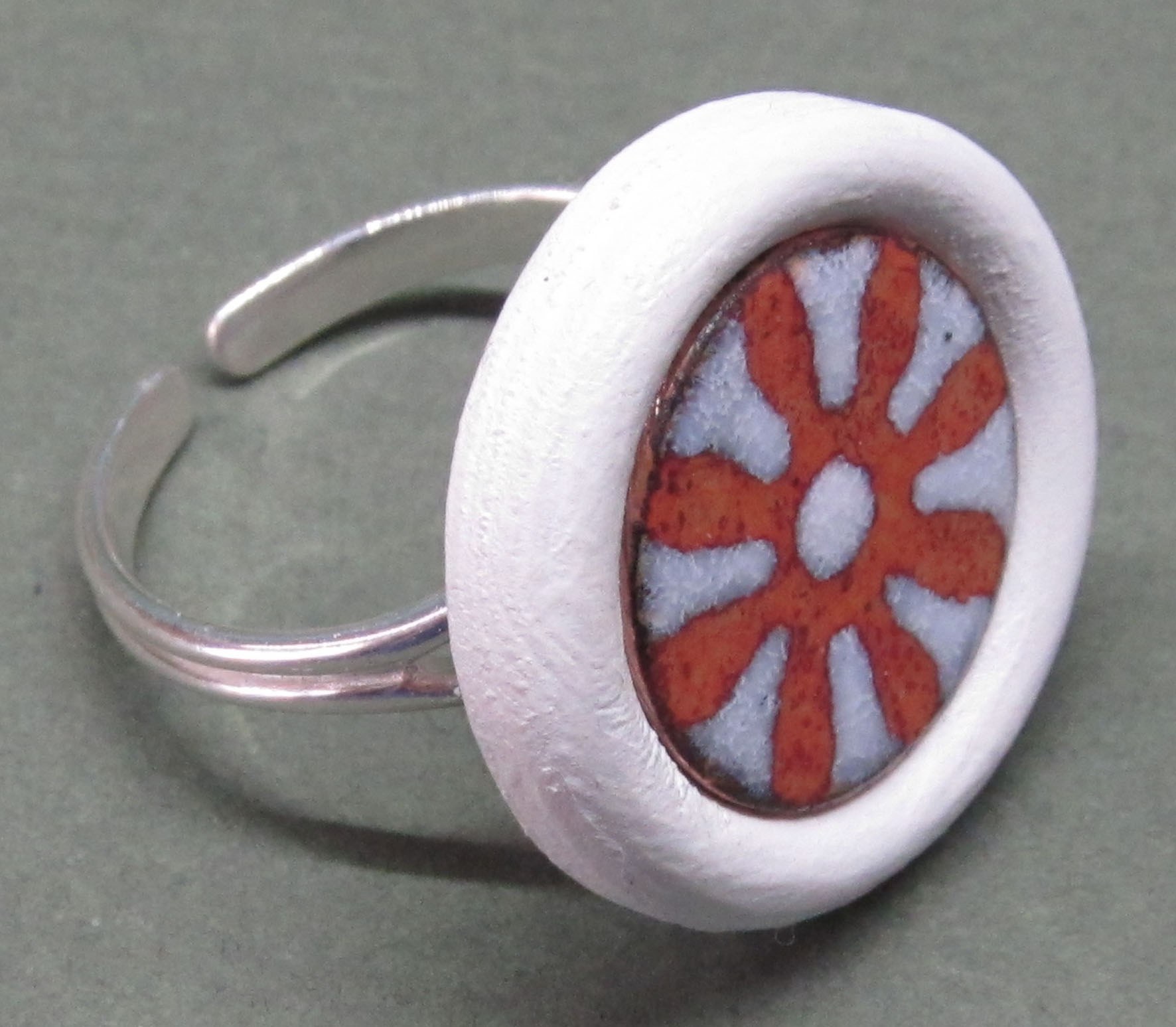 vitreous enamel on copper insert