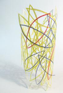 Cut Fold Construct 13 - paper sculpture doodle vessel by Janine Partington