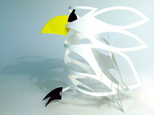Cut Fold Construct 17 - a bird by chance by Janine Partington