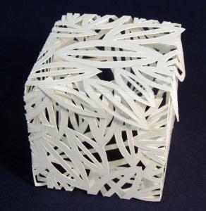 Cut Fold Construct 18 - a closed box by Janine Partington