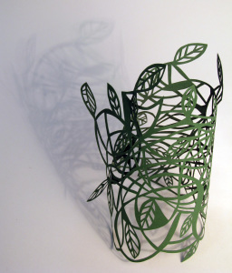 Cut Fold Construct 20 - first free form paper sculpture by Janine Partington
