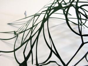 Cut Fold Construct 21 - group paper sculpture - detail