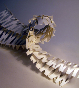 Cut Fold Construct 22 - cut fold and bend by Janine Partington