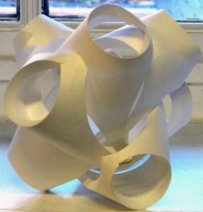 Cut Fold Construct 7 - constructed paper sculpture by Sarah Heenan