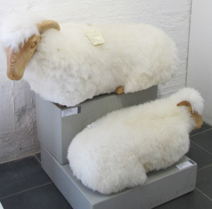 Sheep footstools by John Neusinger