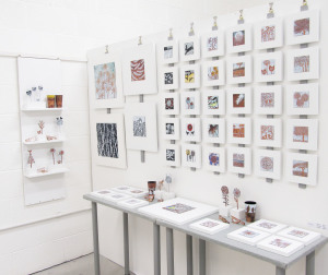 Enamel display by Janine Partington
