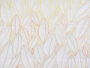 Leaves wall panel detail by Janine Partington