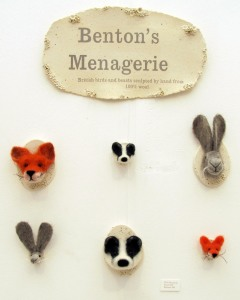 Benton's Menagerie felt animals