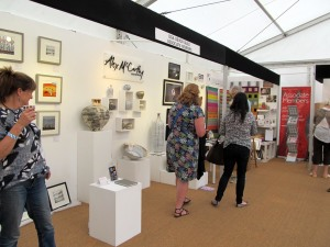 Devon Guild of Craftsmen stand at Contemporary Craft Fair Bovey Tracey 2015
